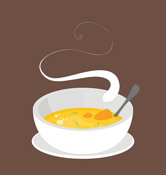 ilustraciones, imágenes clip art, dibujos animados e iconos de stock de hot organic carrot soup. - comida casera