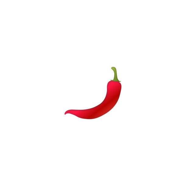 hot pepper vektor-symbol. isolierte rote heiße chili pfeffer realistische emoji illustration - chilli stock-grafiken, -clipart, -cartoons und -symbole