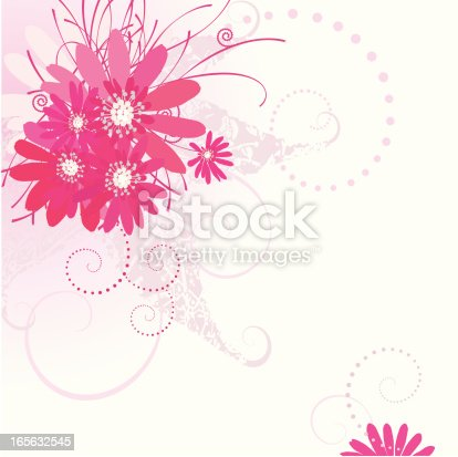istock Hot Pink Flower-Design Elements 165632545