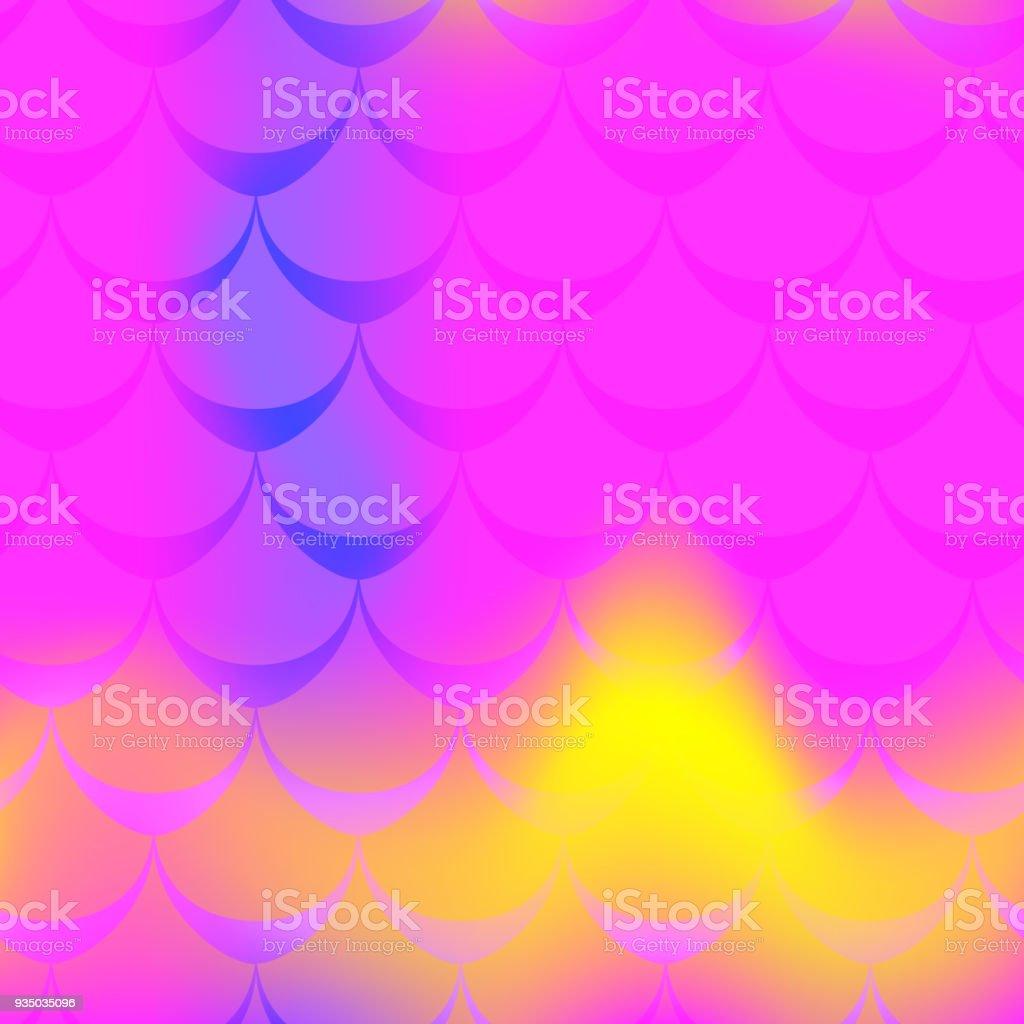 Hot pink mermaid vector background. Multicolored iridescent background. vector art illustration