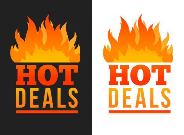 Hot price labels vector art illustration