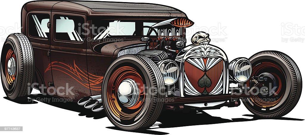Hot Rod Car royalty-free stock vector art