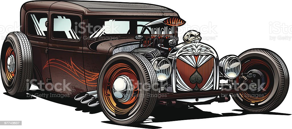 royalty free hot rod clip art vector images illustrations istock rh istockphoto com Hot Rod Cartoons Drawings free hot rod vector clipart
