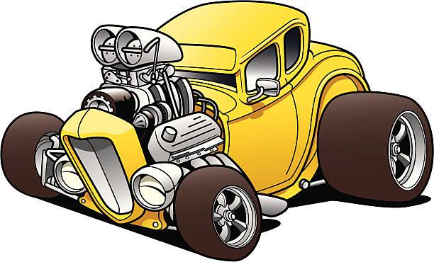 Hot Rod Coupe vector art illustration