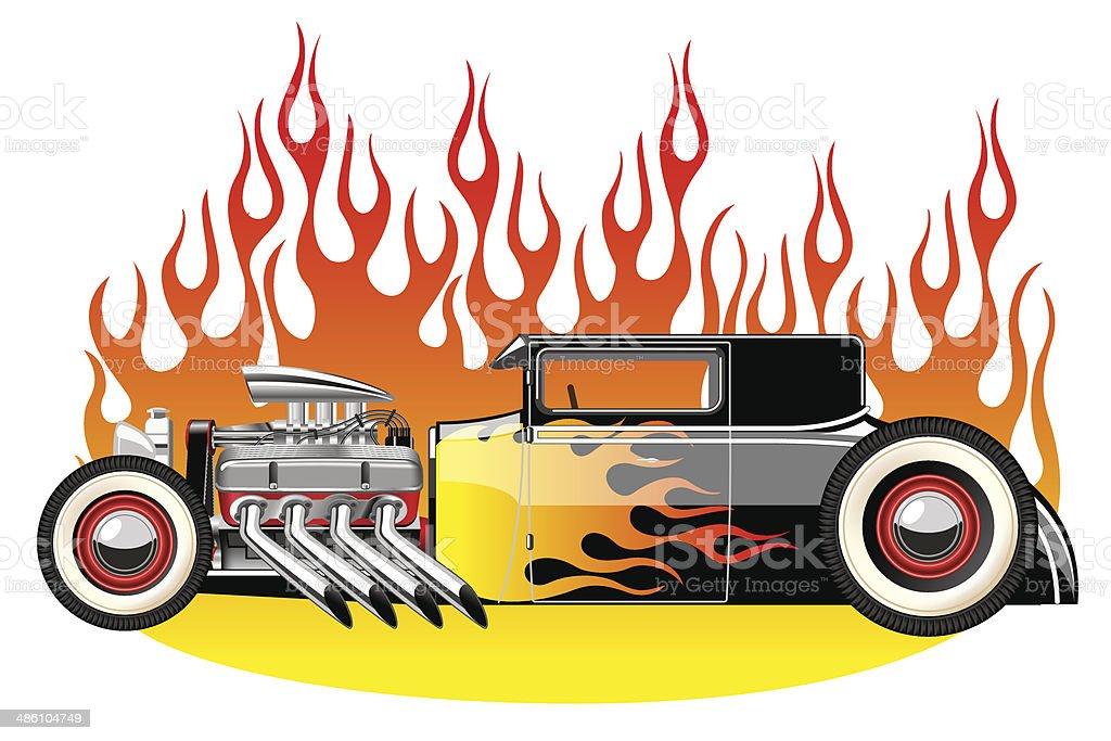 Hot rod vector art illustration