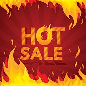 Hot sale design template. Frame of fire.