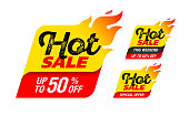 Hot Sale labels, stickers