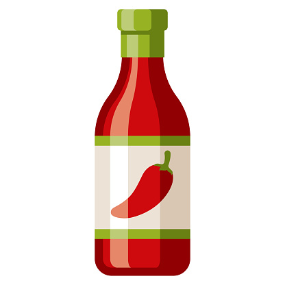 Hot Sauce Icon on Transparent Background