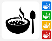 Hot Soup Icon Flat Graphic Design