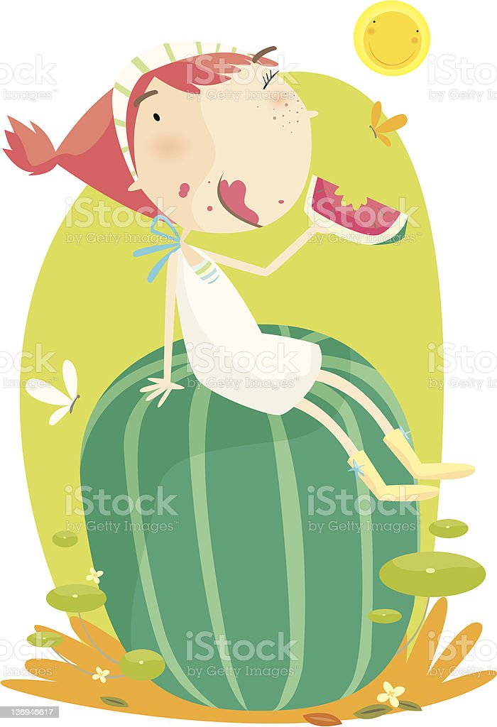 hot summer day royalty-free hot summer day stock vector art & more images of child