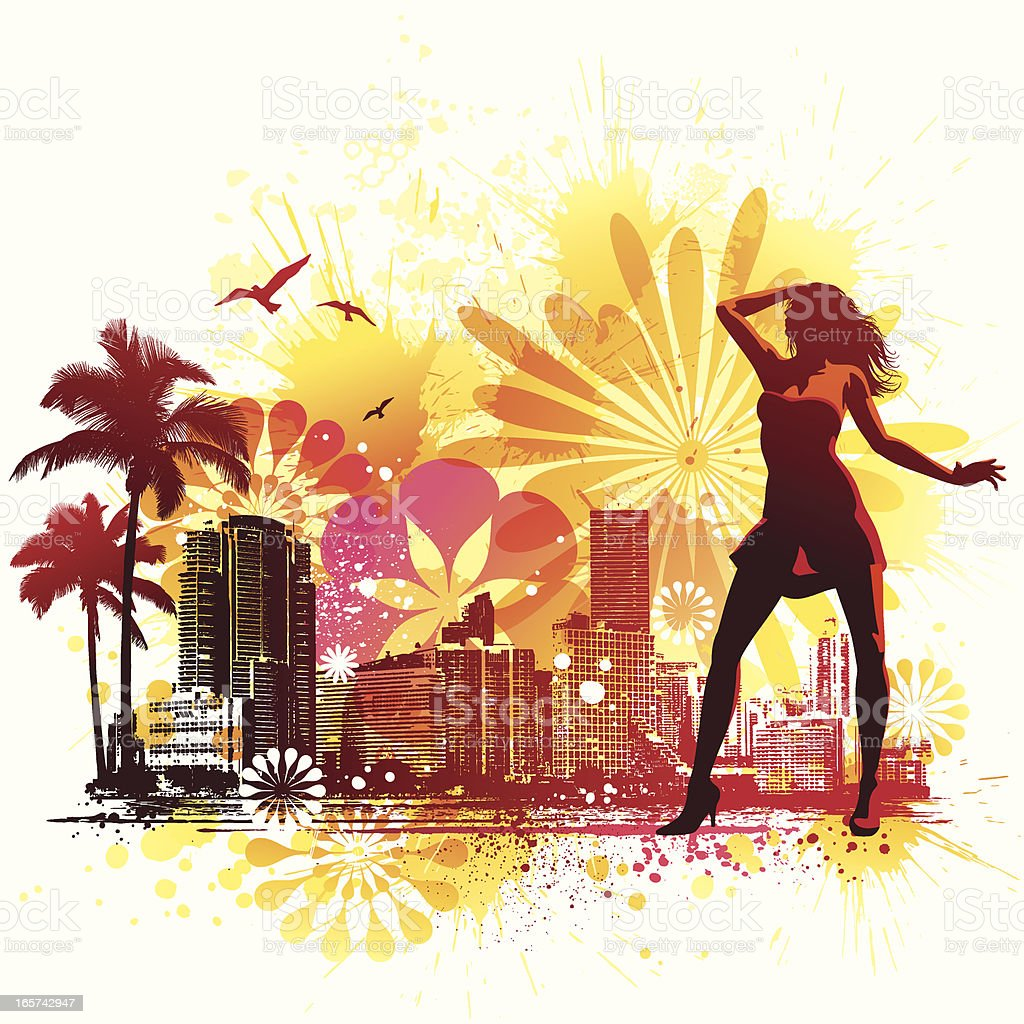 Hot Summer in the City royalty-free stock vector art