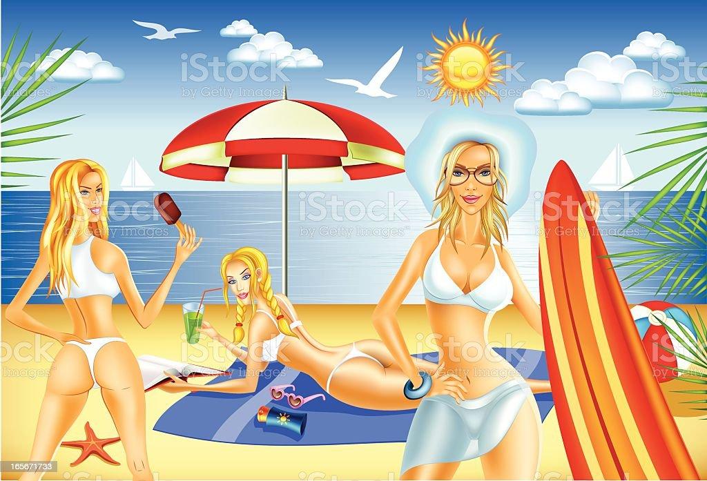 Hot summer royalty-free stock vector art