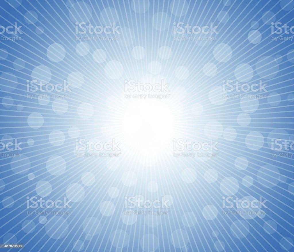 Hot sun lights, abstract summer background vector art illustration
