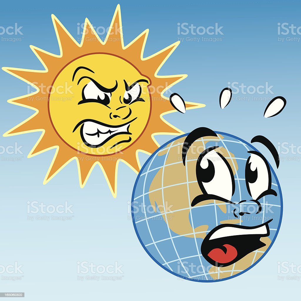 Hot Sun on Earth royalty-free hot sun on earth stock vector art & more images of anger