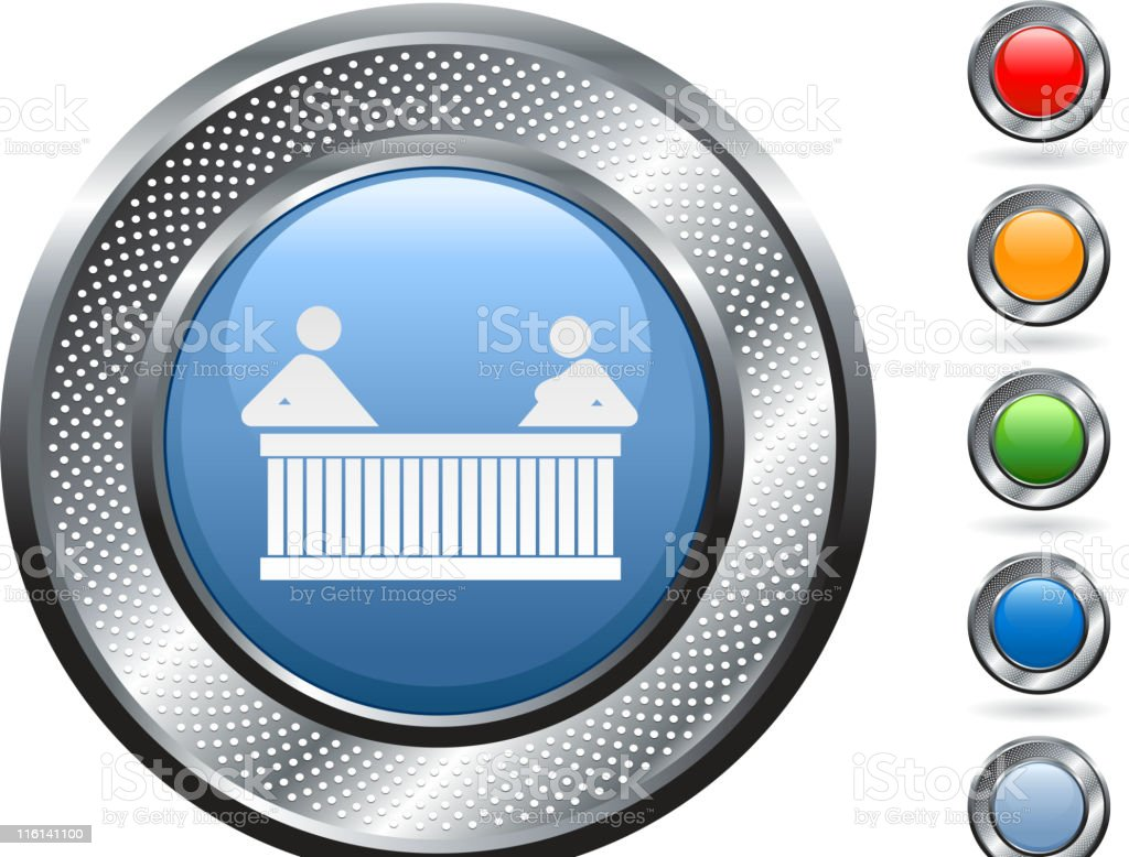 hot tub royalty free vector art on metallic button royalty-free stock vector art