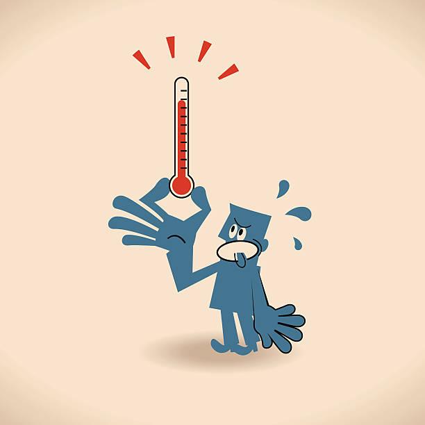 Hot Vector illustration – Hot. heat wave stock illustrations