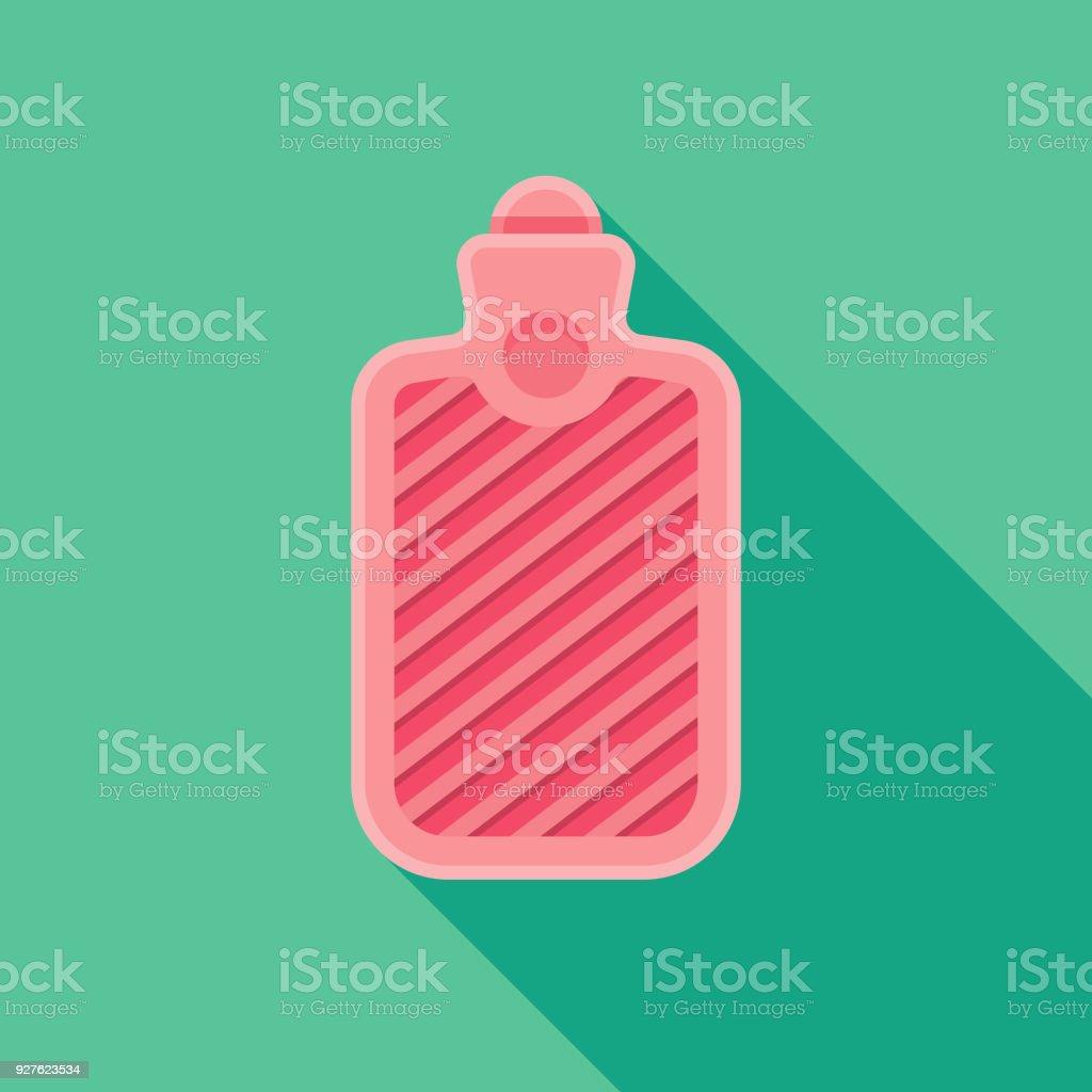 Heißes Wasser Flasche Flach Designikone Weiblichen Reproduktion Mit ...