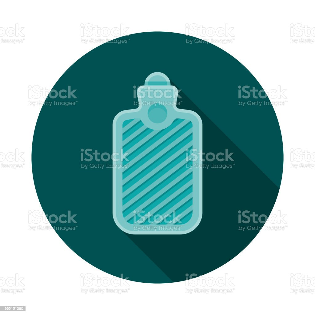 Hot Water Bottle Flat Design Winter Icon with Side Shadow royalty-free hot water bottle flat design winter icon with side shadow stock vector art & more images of blue