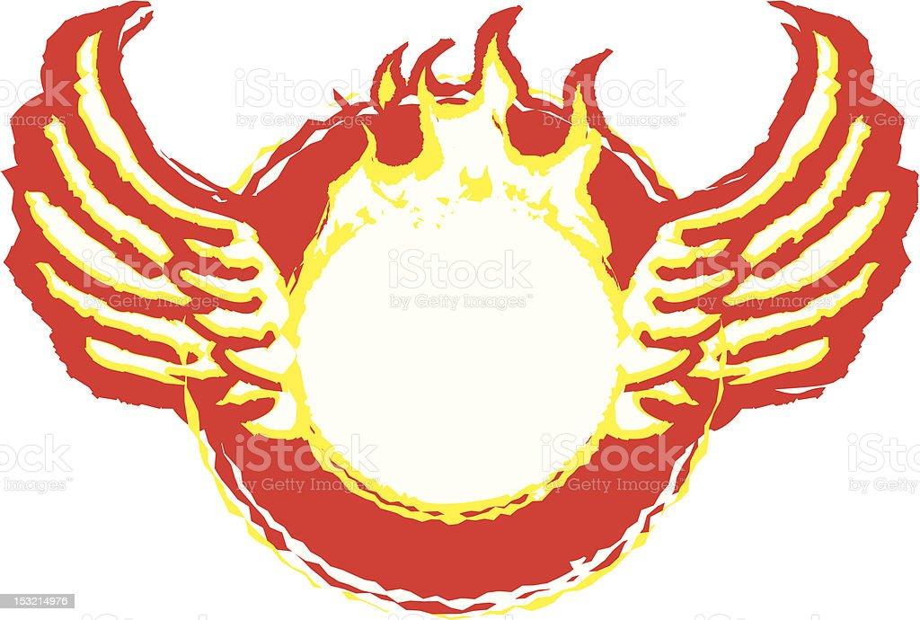Hot Wing Ring vector art illustration