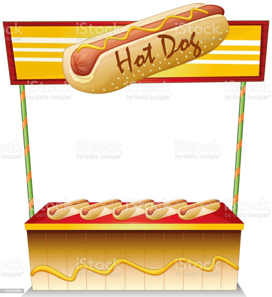 Hotdog stand royalty-free stock vector art