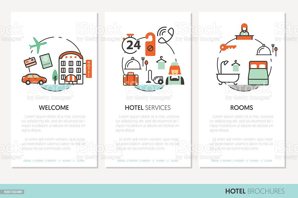 Hotel Accomodation Business Brochure Template royalty-free hotel accomodation business brochure template stock vector art & more images of airplane