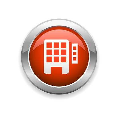 Hotel and Apartment Glossy Icon
