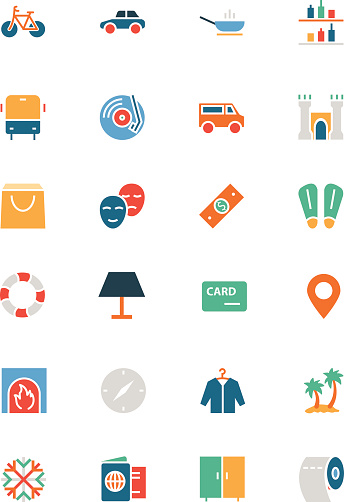 Hotel and Restaurant Colored Vector Icons 5