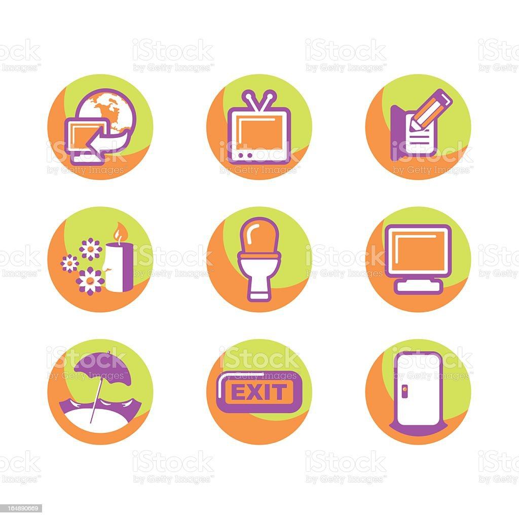 Hotel and Restaurant Icons Series royalty-free stock vector art