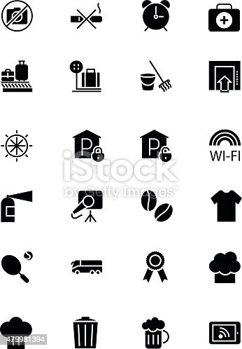 Hotel and Restaurant Vector Icons 9