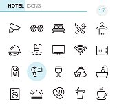 20 Outline Style - Black line - Pixel Perfect icons / Set #17