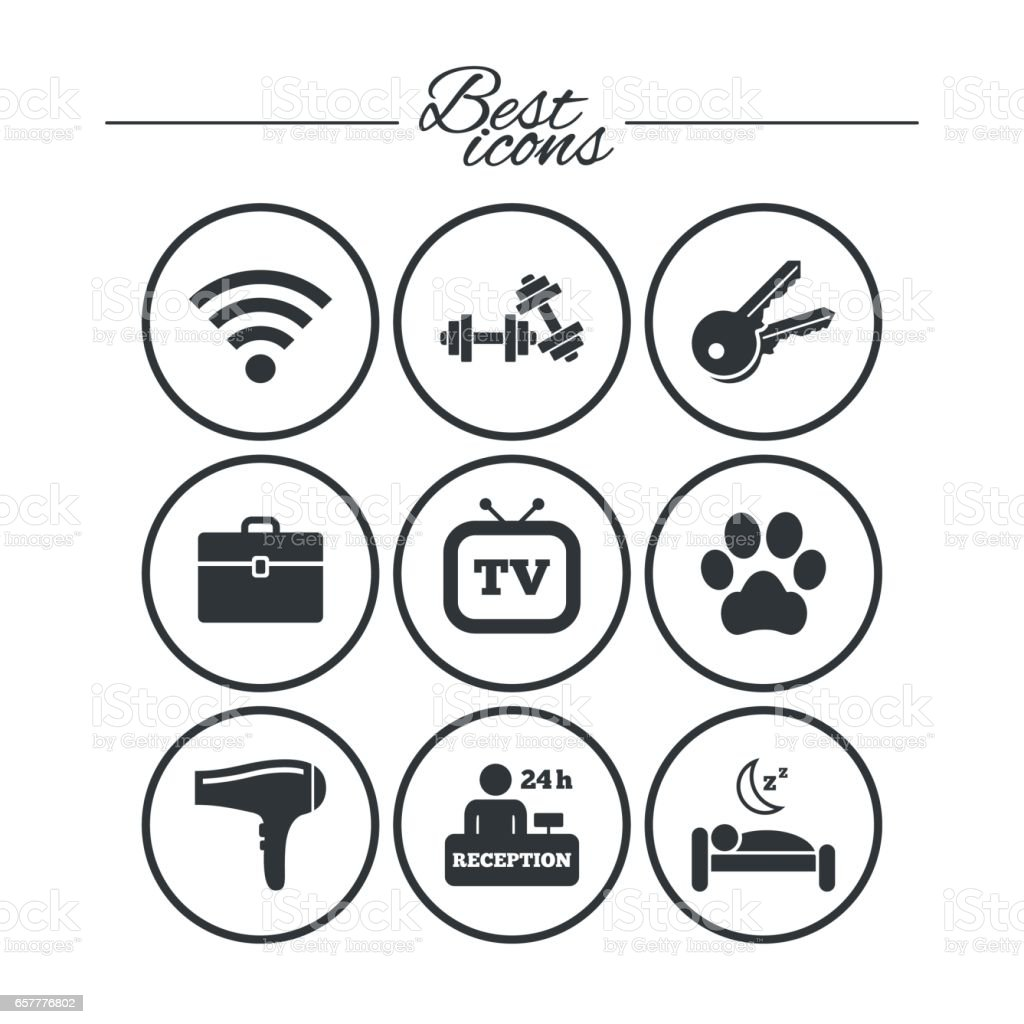 hotel apartment service icons wifi internet stock vector art more Green WiFi wi fi internet royalty free hotel apartment