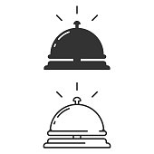 istock Hotel Bell Icon. Reception Bell Vector Design on White Background. 1213673512