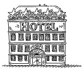 Hotel Building Drawing