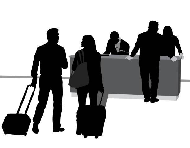 Hotel Check-In Concierge – Vektorgrafik