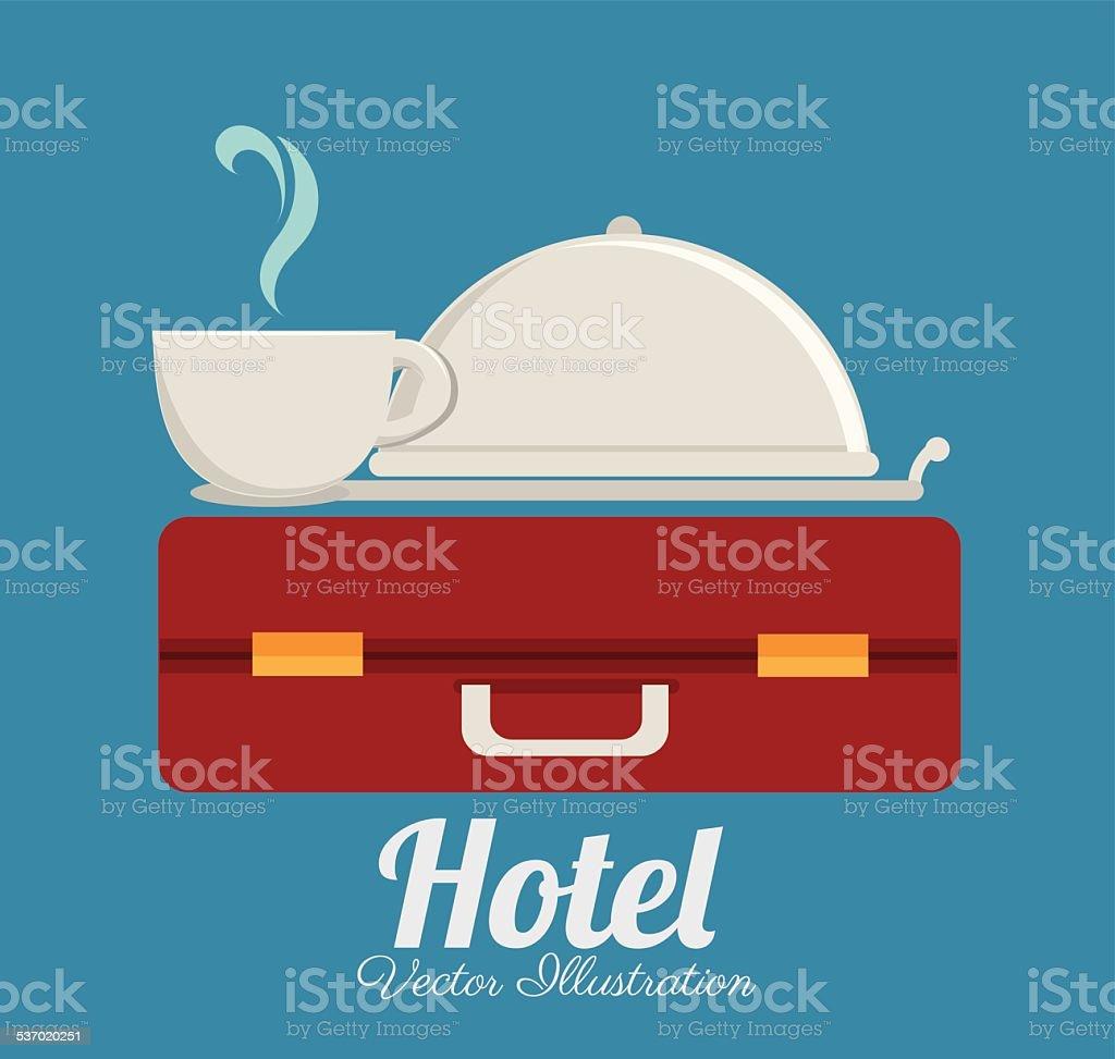 Hotel design, vector illustration. vector art illustration