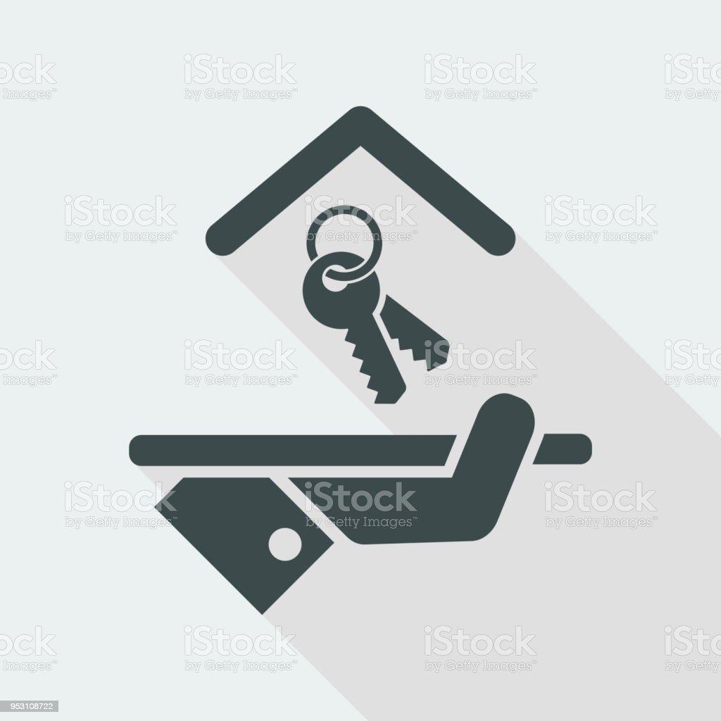 Hotel icon. Keys. vector art illustration