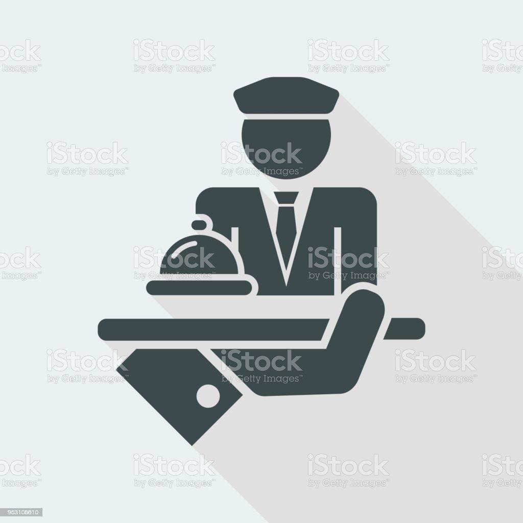 Hotel icon. Porter. vector art illustration