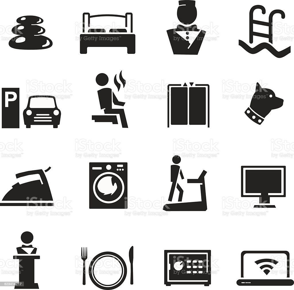 Hotel Icon Set v2 vector art illustration