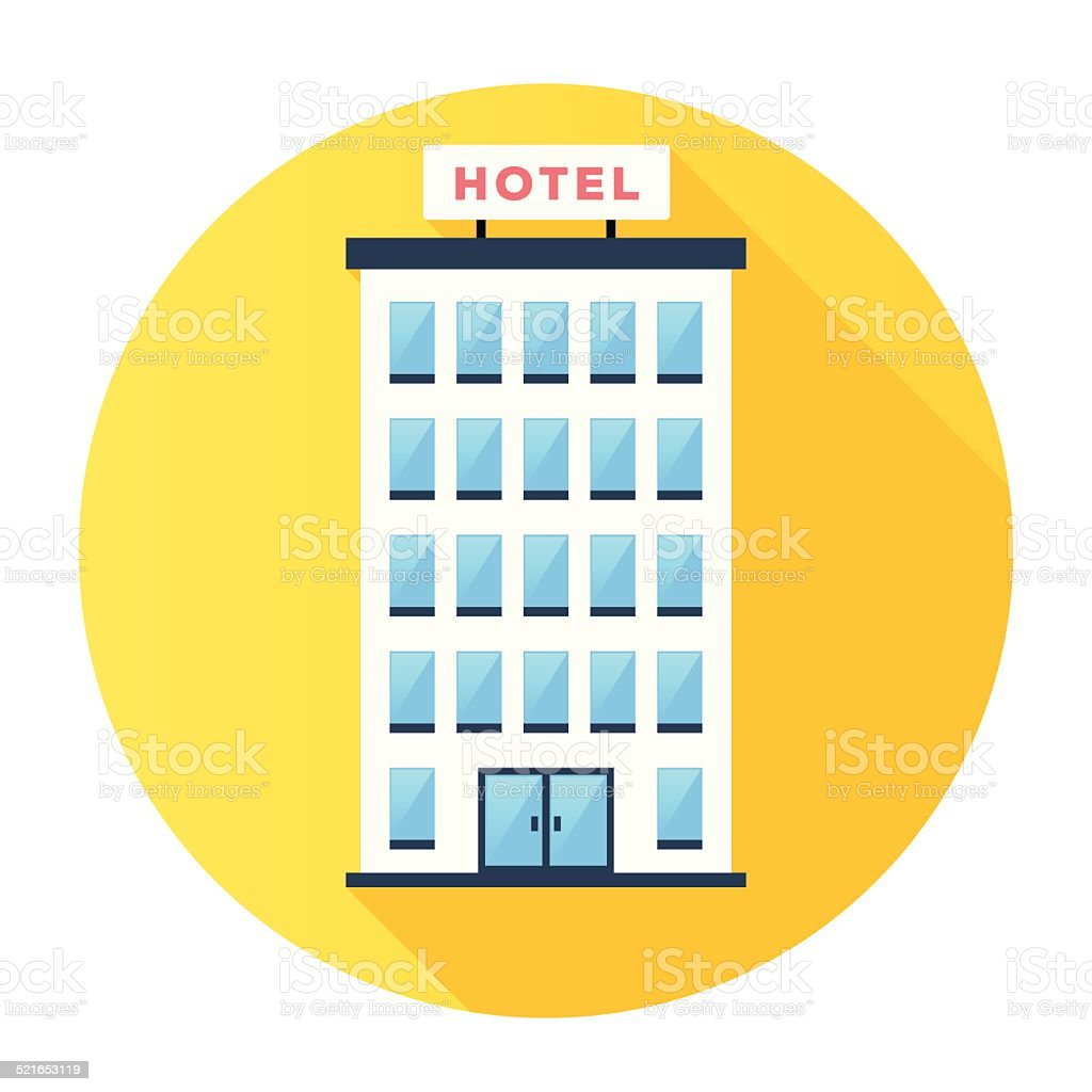 Hotel Icon vector art illustration