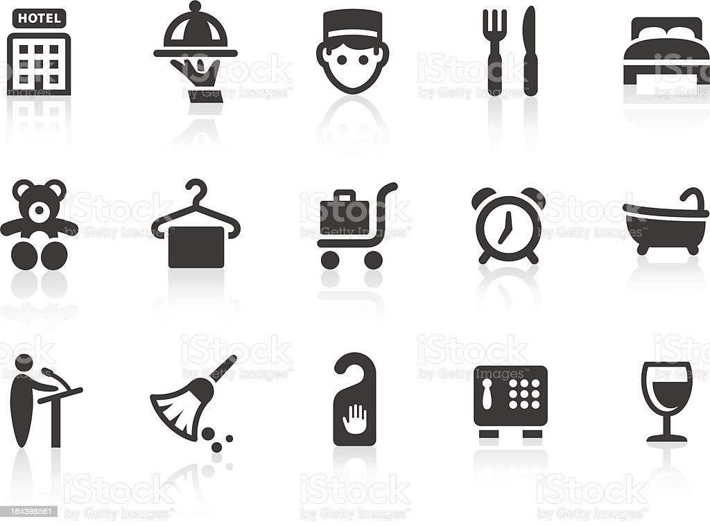 Hotel icons 1 vector art illustration