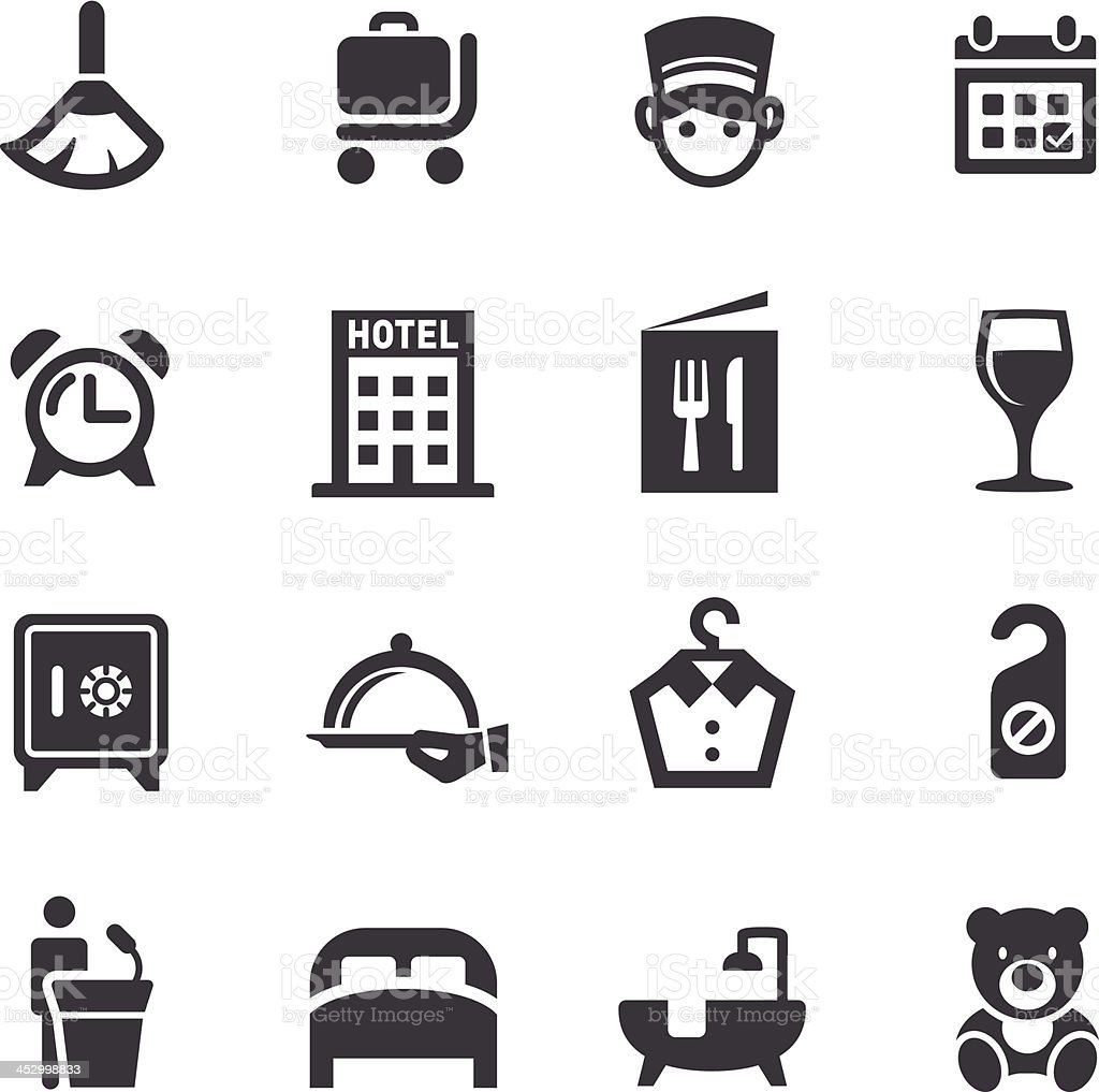 Hotel Icons - Acme Series vector art illustration