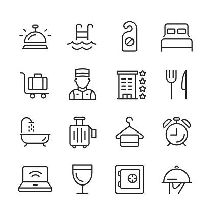Hotel Icons — Monoline Series
