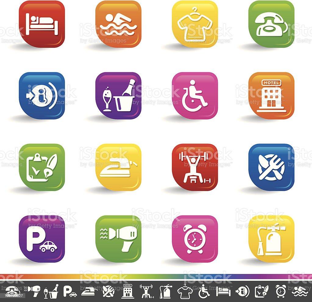 Hotel icons | Rainbow Series royalty-free hotel icons rainbow series stock vector art & more images of advice