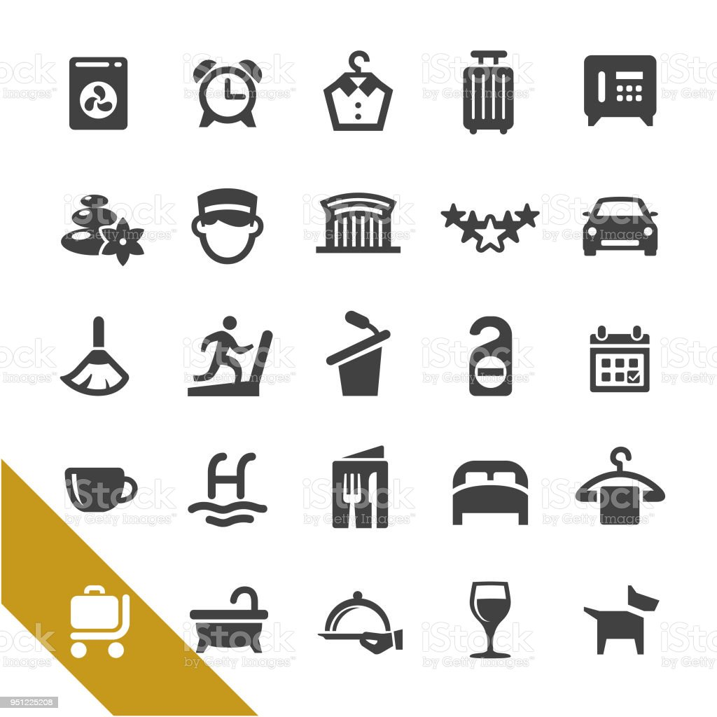 Hotel Icons - Select Series vector art illustration