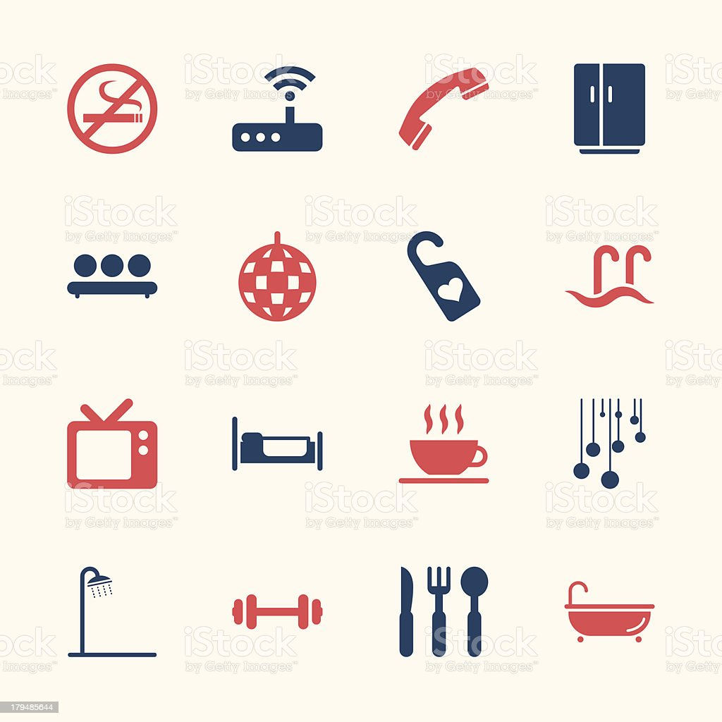 Hotel Icons Set 2 - Color Series   EPS10 vector art illustration