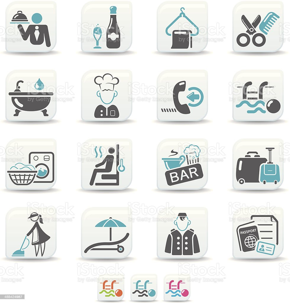 hotel icons | simicoso collection vector art illustration