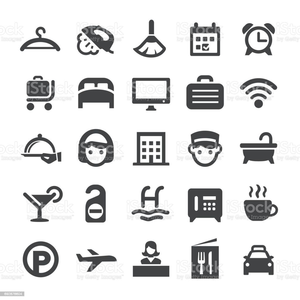 Hotel Icons - Smart Series vector art illustration