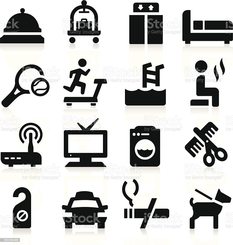 Hotel Icons royalty-free stock vector art