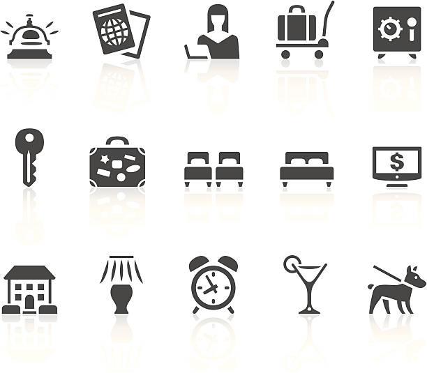 hotel icons - villas stock-grafiken, -clipart, -cartoons und -symbole