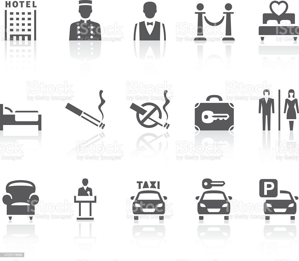 Iconos del Hotel - ilustración de arte vectorial